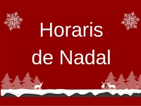 Horaris de Nadal2