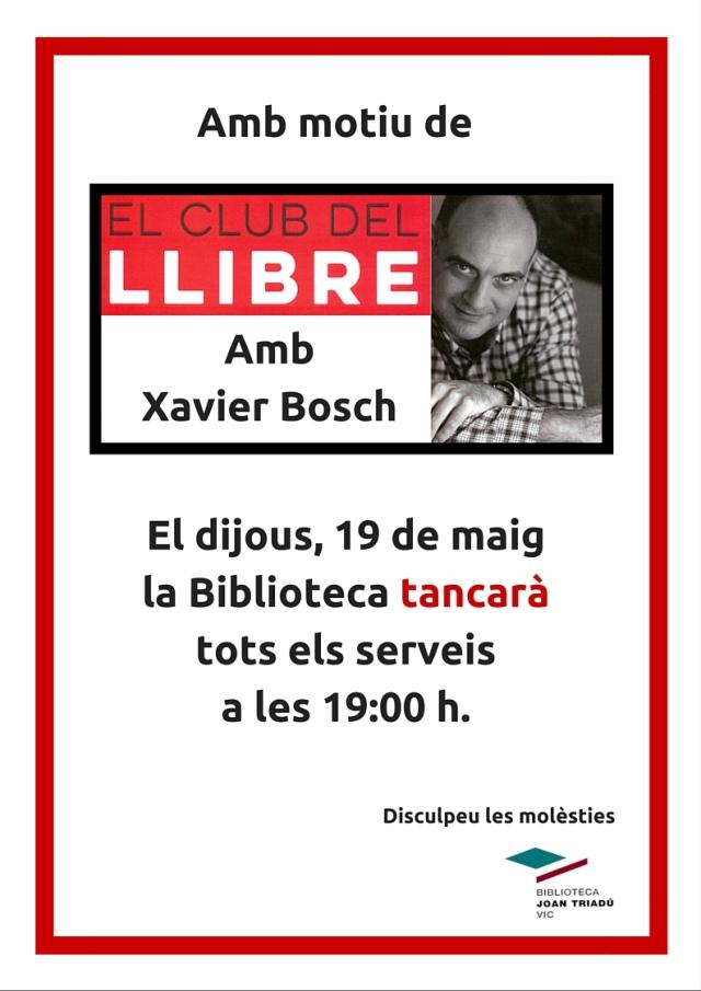 club del llibre Xavier Bosch