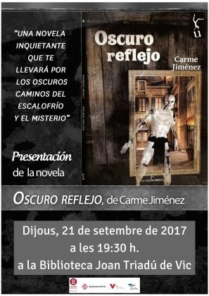 Presentació de El oscuro reflejo de Carme Jiménez