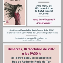 Club lectura Salut Mental 2017 La ràbia de Lolita Bosch