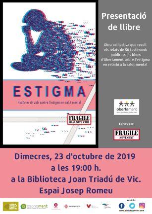 Presentació de llibre Estigma