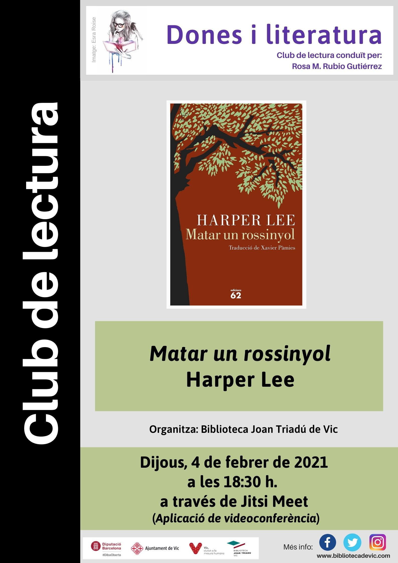 Club de lectura Dones i literatura: Matar un rossinyol de Harper Lee