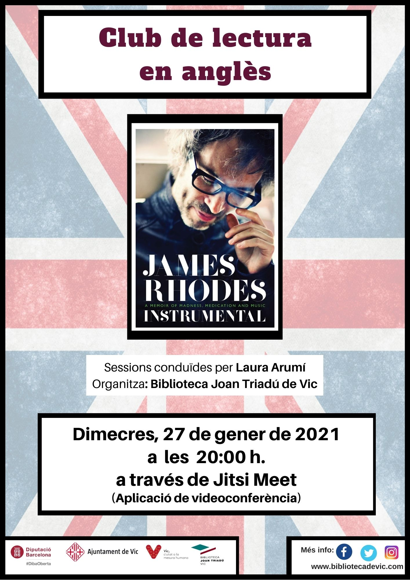 Club de lectura en anglès: Instrumental de James Rhodes