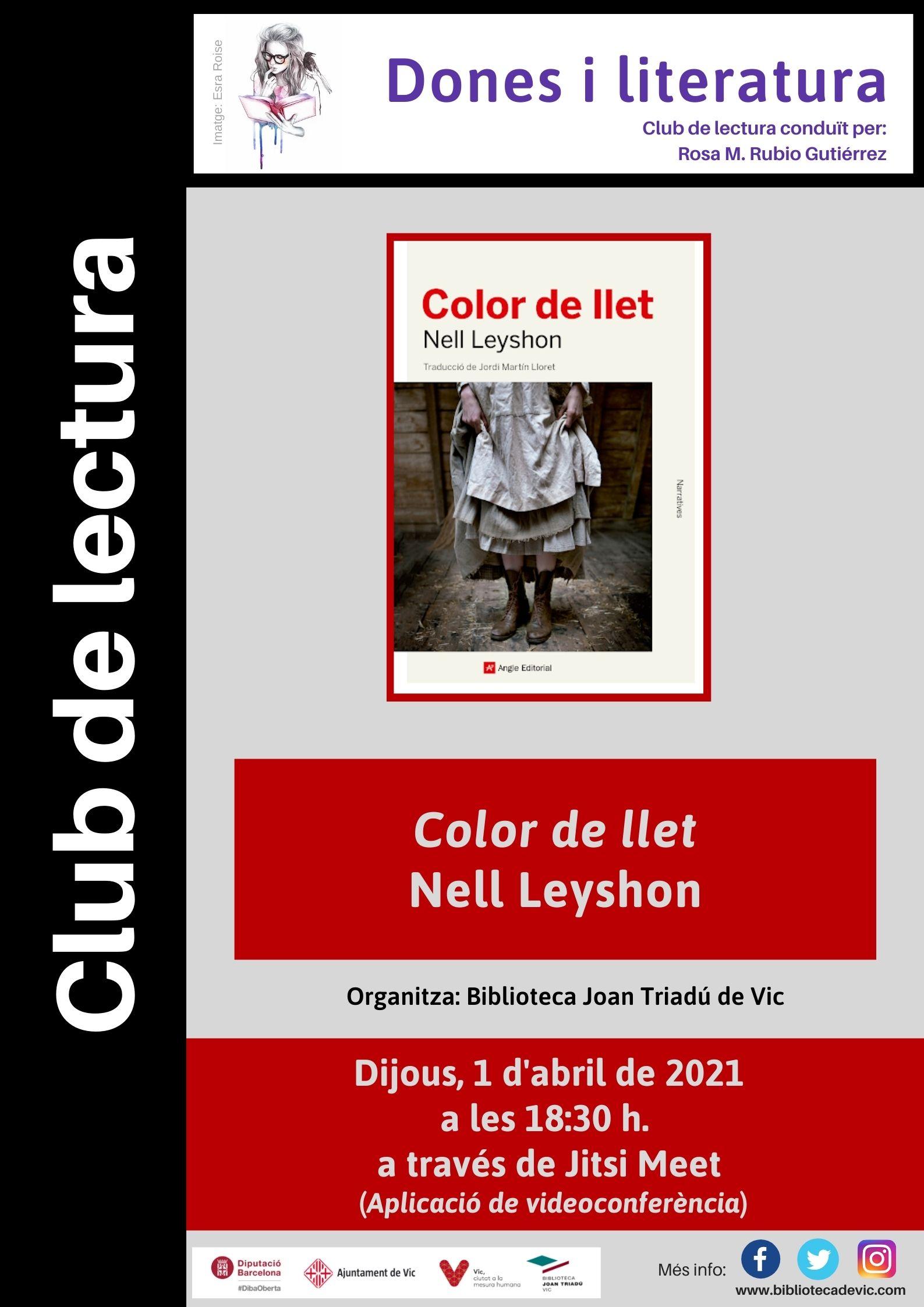 Club de lectura Dones i literatura: Color de llet de Nell Leyshon