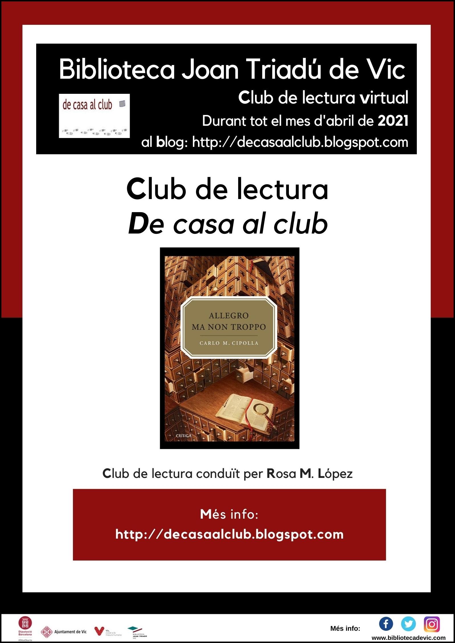 Cl de casa al club Allegro ma non troppo abril 2021