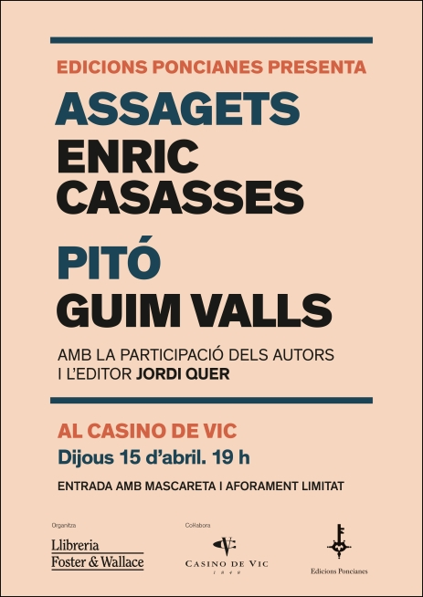 PONCIANES cartell