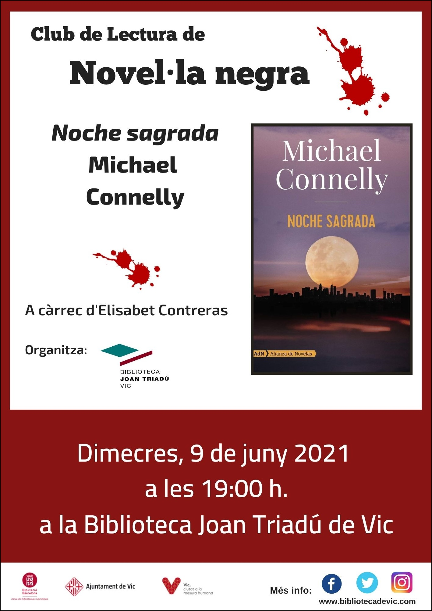 Club de lectura de novel·la negra: Noche sagrada de Michael Connelly